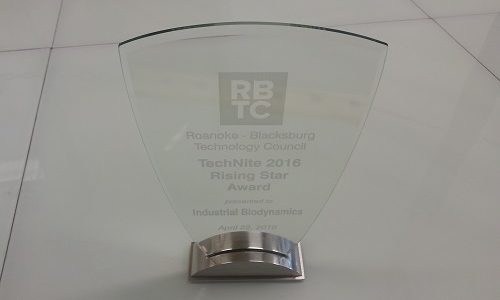 RBTC Technite Rising Star Award presented to Industrial Biodynamics